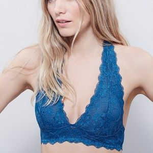 FP Galloon Racerback Bralette Lace Dark Teal